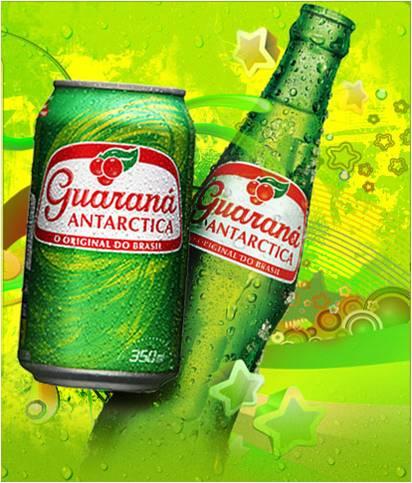 Envase de Guaraná Antarctica, en lata y en botella
